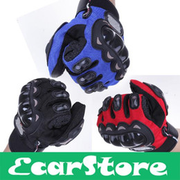 Wholesale-Cycling Bicycle Motorcycle Outdoors Sports Full Finger Protective Gear Racing Gloves Blue Black Red XXL XL L M