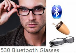 Wholesale 530 Bluetooth Glasses with Covert Wireless micro Earpiece Earphone with earpiece tiny Invisible Earbud spy bug Digital Nano