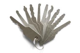 Free Shipping !! door hardware sport Locksmith Tool 10 pieces keys Pin Tumbler Lock Jigglers SYG-055