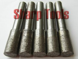 Wholesale SHK mm Cut Edge mm Sintered Diamond Tools for Stone Granite Flat Bottom Diamond Router Bits End Mill Milling Cutters for CNC