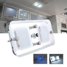300 Lumens12V DC Cool Blanc LED Crystal Toit Plafonnier Caravan / RV / Car / Motorhome / Marine à partir de dc a mené la lumière au plafond fabricateur