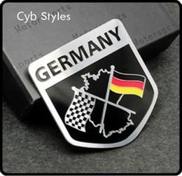 Wholesale Metal Aluminium car Emblem Badge Decal Sticker Racing Motorsport Germany German Flag for VW Benz BMW Audi
