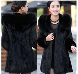 Wholesale Sell Rabbit Fur Coat - Wholesale-2015 luxury winter coat women rabbit fur coat long style warm fur coat factory direct selling fur coat