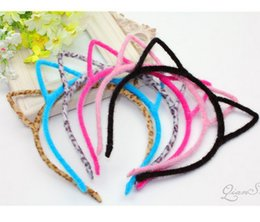Wholesale Colors Women Novelty Cat Ears Headband Hairband Sexy Prop Hair Band Accessories Headwear