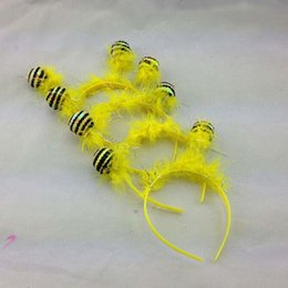 Wholesale Funny Bee Ant Antenna Headband Bug Alien Ball Head Band Children Halloween Fancy Dress
