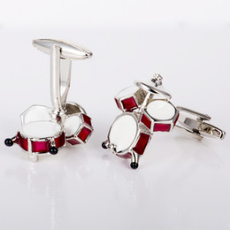 Red Drums Cuff Links Enamel Cufflinks Mens Fashion Accessories Mens Gifts Cuff-links Personality Mens Gifts Cuff-links