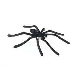 Araignées noires en Ligne-Mode chaude 20pcs / set Halloween Plastique Black Spider Joking jouets
