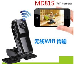 Wholesale MD81S Mini Portable Wifi IP Camera Wireless Video Camcorder Cam data Recorder for Iphone Android Personal body Security