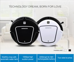 Wholesale 2016year very hot best sale best quality Automatic Robotic Vacuum Cleaner for Home with LCD Remote Control Automatic Water Tank