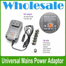 Universal AC DC Power Supply Adaptor Plug Charger Adatpter 3v 4.5v 6v 7.5v 9v 12