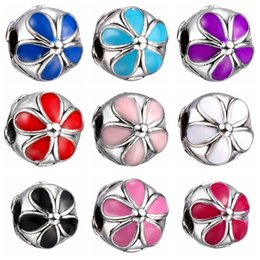 Fashion European Charms Flower Stop Safety Beads Big Hole Loose Beads charm For DIY Jewelry Bracelet For European Bracelets SF30