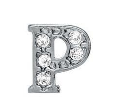 "Wholesale 20pcs lot DIY Alloy Charm rhinestone Silver Alphabet Letter "" P "" Fit For Glass Floating Locket Jewelrys"