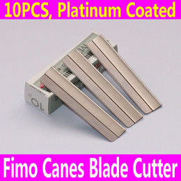 Wholesale-10PCS Razor Fimo Polymer Clay Canes Rods Blade Cutter for 3D Nail Art Decorations Fruit Sticks Charms Slices Tools Foil DIY Set