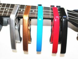 Wholesale Single handed Electric Guitar Capos Colorful Quick Change Acoustic Guitar Capos Strength Aluminum Material Hot Sale