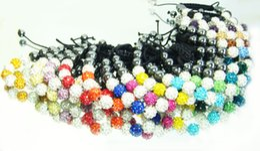 mixes Fashion Handcrafted Disco clay Beaded Bracelet for Shambhala Crystal bead Bracelets Wholesale charm Bracelets Adjustable size