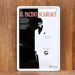 Wholesale Al PACINO SCARFACE vintage home decor metal Tin signs decorative plaques for bar wall art craft X30CM SP RW