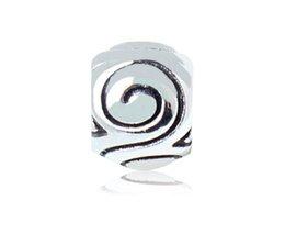 Wholesale 20pcs x0 cm Antique Silver Plating Alloy European Bead Big Hole jewelry making DIY