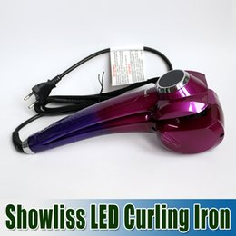 Wholesale 3 Colors Showliss Pro LCD Hair Curler With Free Hair Clips Curling Iron Hair Irons Automatic Universal Voltage showliss DHL Churchill
