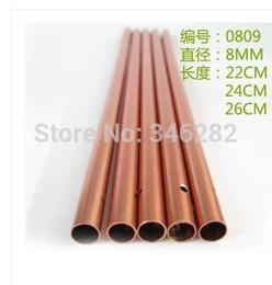 tube de carillon de vent aluminium pur Campanula métallique bricolage processus matériel manuel diamètre de tube creux de couleur 8MM de 0809 cloches de bronze à partir de des tubes métalliques creux fabricateur