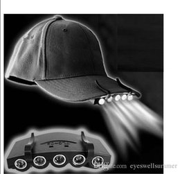 Wholesale Super Bright LED head light headlamp Under the Brim Cap LED Light with Two Lighting Modes for Cap Hat