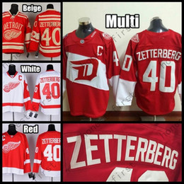 2016 Stadium Series Detroit Red Wings Hockey Jerseys 40 Henrik Zetterberg Jersey Home Red White Black Ice Camo Stitched C Patch