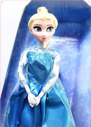 Wholesale 2014 New arrival inch musical Frozen Doll beauty Anna and Elsa with music quot let it go quot best toys for kids baby girls
