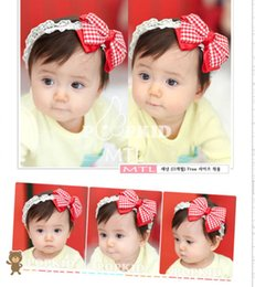 Wholesale 300pcs Infant Double Layer Bow Hair Band Girl Lace Headwear Kids Baby Bow Hair Accessories Baby Hair bands For M Y Babys