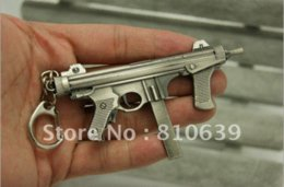 Wholesale CF Famous Miniature Gun M12S Keychain Keys Ring Cross Fire Cute Assault Rifle Model Perfect Xmas Gift M12S Series