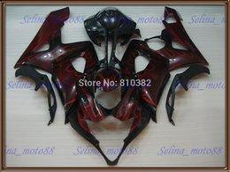 Wholesale Motorcycle fairing kit for SUZUKI GSXR GSX R GSXR K5 Red flames gloss black panels bodykit