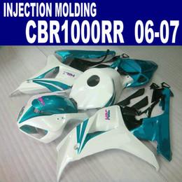Free customize fairing kit for HONDA Injection molding fairings CBR1000 RR 06 07 black green white CBR1000RR 2006 2007 plastic set BB52