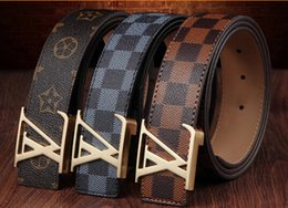Wholesale new grid belt man leather Han edition of joker leisure belt young fashion belts good quality