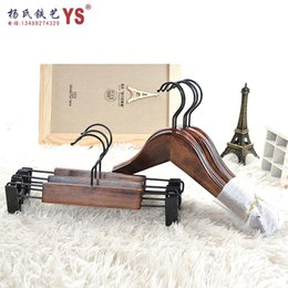 Slip drying pants folder pants upscale vintage wood wooden clothes rack clothing store hanging clothes hanger closet hanger supp