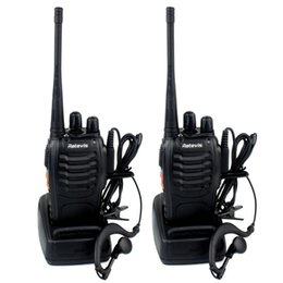 Wholesale US Stock Retevis H Handheld Walkie Talkie UHF MHz W CH Single Band Two Way Radio SMA F Free earpiece A9105A