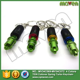 Wholesale 2015 Car Turbo Tein JDM Damper Coilover Keychain Key Chain Rings Auto Accessories Pendant Keyholder Decal Keyrings Suspension