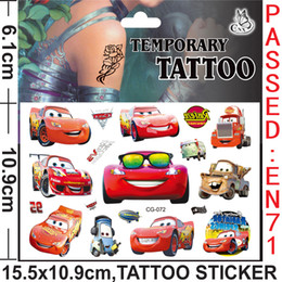 Wholesale Cars Story Dora Frozen The Avengers Butterf Anime Cartoon Tattoo Stickers Monster high Body complete tattoo kit Women Baby Children s Gift