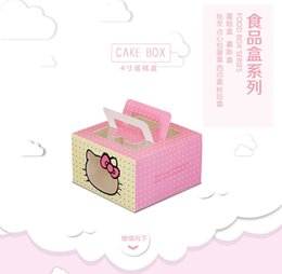 Promotion boîte de petit gâteau de faveur de fête de mariage Kitty Window Cupcake Box, Cake Party Favor bébé boîte Douche boulangerie de mariage point à l'ouest boîte de gâteau boîte de mousse plus stylel Boîtes à gâteaux avec poignée