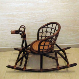 Genuine home safely wicker chair child chair playpen rattan sofa rattan natural environment Baby Chair small horse