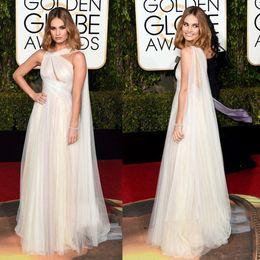 2016 Golden Globe Dress Celebrity Dress 2016 Lily James Floor Length Red Carpet Dress 73th Golden Globe Awards Celebrity Dresses