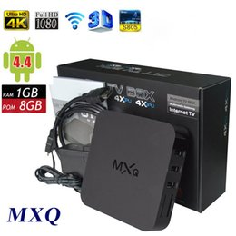 TopSale MXQ TV BOX Amlogic S805 Quad Core Android 4.4 Kitkat 4K 1GB 8GB WIFI Airplay Miracast 3D Free Shipping