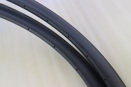 45mm carbon clincher rims 25mm width u shape 20 24H front and rear bike wheel rims 3k matt finish basalt track road bicycle rims