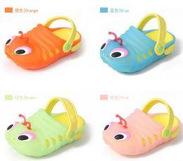 Wholesale 2015 Summer Kids Sandals Shoes Caterpillar shoe sz18 Children sandals baby carpenter worm hole shoes casual shoes pc pairs Melee