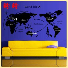 Wholesale bedroom decoration AY9134 map puzzle sticker baby room decor simple and stylish sofa back bedroom bedside Stickers