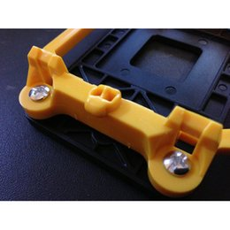Wholesale x New Black Yellow Plastic CPU Retention Bracket Base for AMD Socket AM2 order lt no track