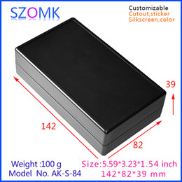 electrical plastic enclosure distribution box (10pcs) 142*82*39mm instrument case, Instrument control box electronics outlet box