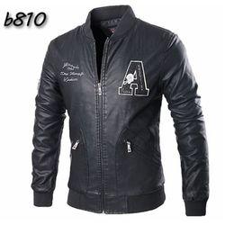 Desconto revestimento da motocicleta longas de couro Homens Coats 2015 Top Fashion Men Jacket Coats couro Slim Fit PU jaqueta masculina manga comprida Motorcycle Jacket Plus Size L-3XL FG1511