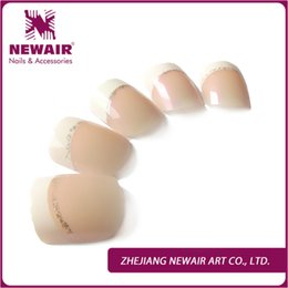 Wholesale brand new silver glitter nails fashion beauty classical french nail tips consistent with the public hand