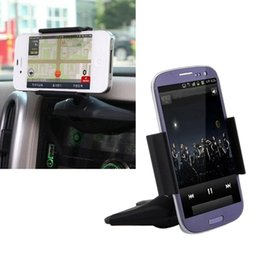 "Wholesale-3.5""-5.5"" Universal CD Slot Vehicle Mount Automobiles Stand Bracket Adjustable Car Phone Holder for MP3 MP4 Mobilephone"