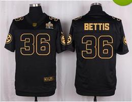 Wholesale 2016 New Arrivals Pro Bowl Mens Jerseys Steelers Bettis Black White Stitched Jerseys