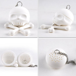 Wholesale Creative Bones Skull Tea Strainer Balls Silicone Tea Infuser Filter Vintage Tea Accessories