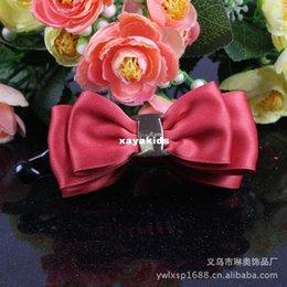 Wholesale Xayakids Hairpin South Korean ribbon banana clip clip are vertical bow hairclip Korean hair Baby Headband